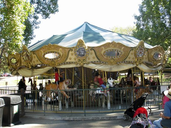 Oakland Zoo: The carousel is a classic kiddie ride
