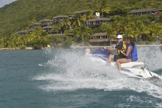 Blue Rush Water Sports And Jet Ski Rentals Inc. : Passing by The Bitter End Yacht Club