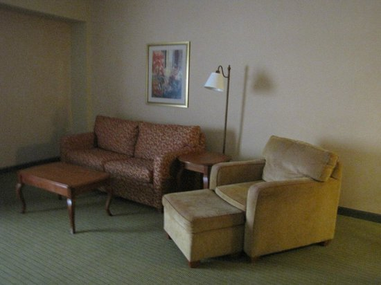 Hampton Inn & Suites Pittsburgh - Downtown: Pull out couch, with additional lounge chair and foot stool