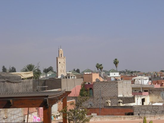 Riad Kniza: view from the rooftop terrace