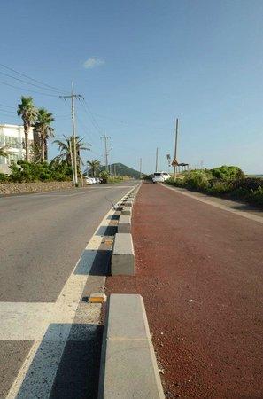 Feliz Town Hotel : Coastal road enroute to this hotel