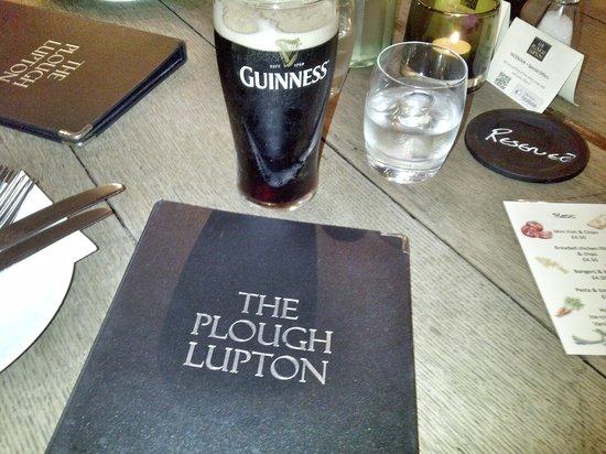 The Plough Inn: The Plough menu