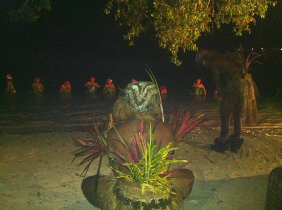 Ratua Private Island: Water Dancers every Tuesday evening