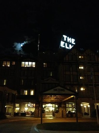 The Elms Hotel and Spa: full moon over the elms