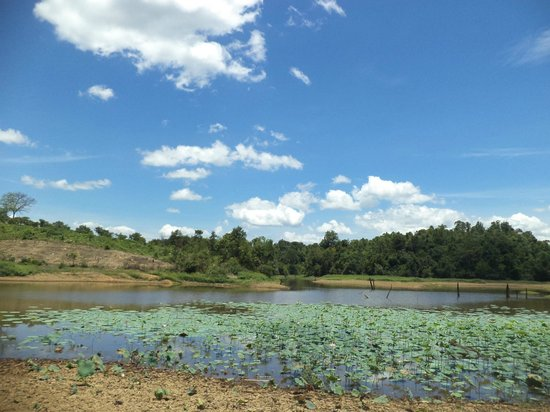 Ta Lai Longhouse: The lake 30 meters from the longhouse