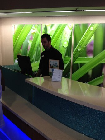 SpringHill Suites Nashville MetroCenter: Bright Lobby & Friendly Topher checking us in
