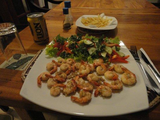 Surf Villa : Garlic shrimp