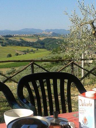 Colle San Giovanni: Panorama dalla veranda