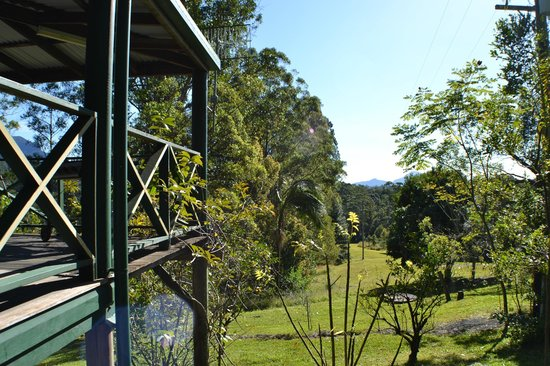 Calurla Chalets: View from the stairs of the 1 bedroom cottage