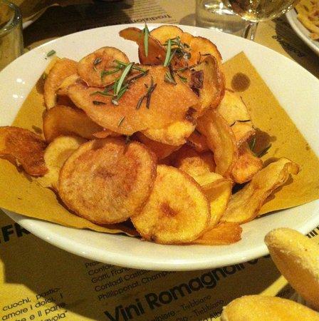 Osteria del Gran Fritto: Patatine con rosmarino