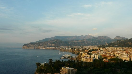 Hotel Bristol: View of Sorrento from our Bristol Hotel room