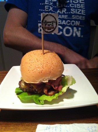 Handmade Burger Co: Jimmys farm burger!