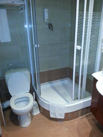 Hotel Villa Royale: Bagno pulito, stanza doppia