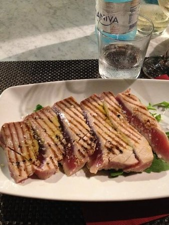 Osteria Elbana Il Gambero Rosso : tagliata di tonno