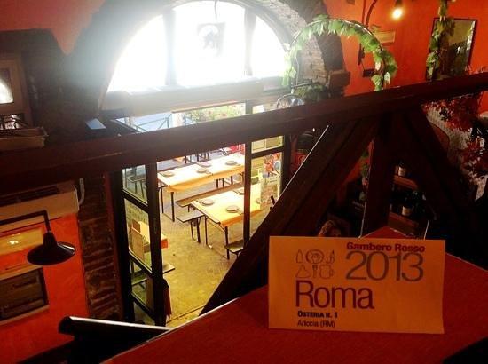 Saletta Superiore Foto Di Osteria N 1 Ariccia Tripadvisor