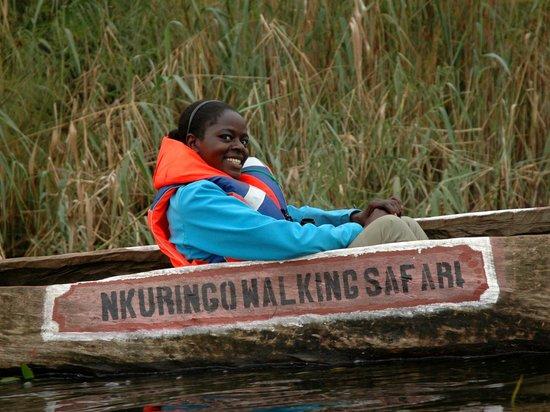 Nkuringo Bwindi Gorilla Lodge: Agatha our walking safari guide