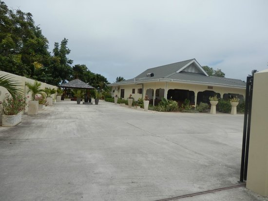 Villas de Mer : entrée de l'hôtel