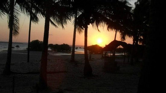 Areia Branca Lodge: Sunset of the estuary