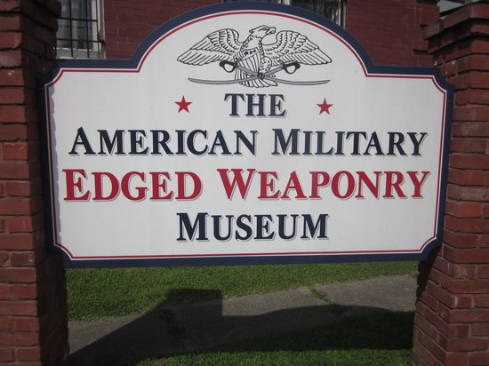 American Military Edged Weaponry Museum: Sign out front