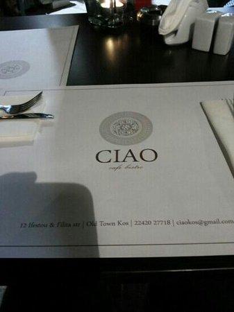 Ciao Cafe Bistro: ciao