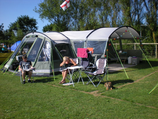 West Fleet Holiday Farm Campsite: Paddock D4, our new outwell tent