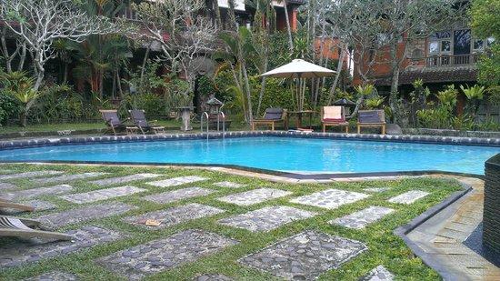 Ubud Dream : piscine d'un hotel où on peut aller gratuitement