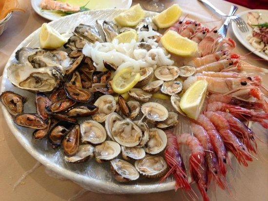 La Manna del Pozzo: il piatto di crudités, veramente divino