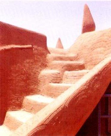 Sultan's Palace: Una scala in terra cruda, sulla terrazza del Palazzo del Sultano.