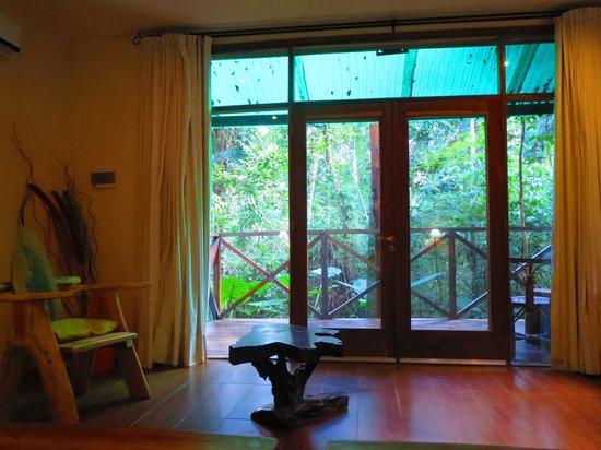 Tierra Guarani Lodge: vue sur terrasse