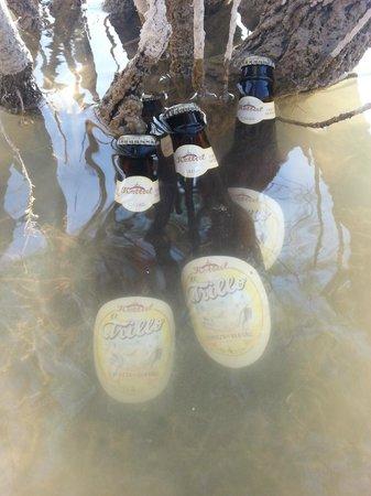 Fábrica de Cerveza Kettal: Cooling el Trillo in the waters of El Chorro lakes