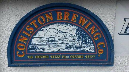 Black Bull Inn and Hotel: brewery sign
