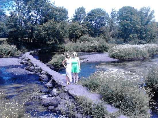 About Cork Taxi Tours Day Tours: Meghan & Kelly crossing the river lee at  Ballingeary west cork