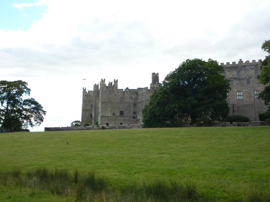Raby Castle: View of castle approaching from car park