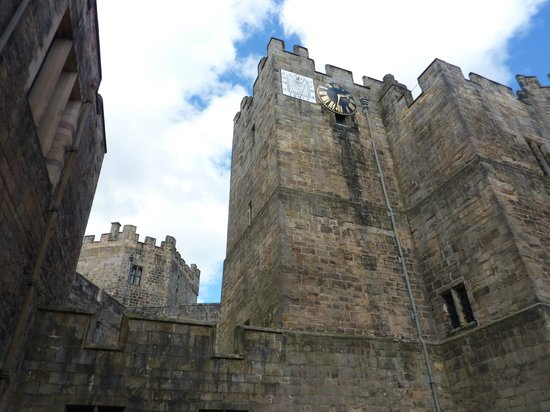Raby Castle: One of castles towers from inner courtyard.