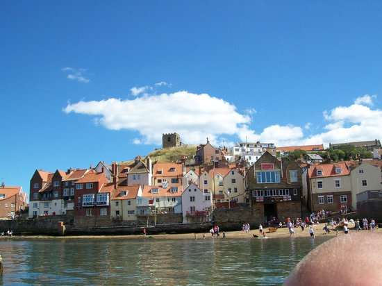 Whitby Old Lifeboat: Going down the harbour