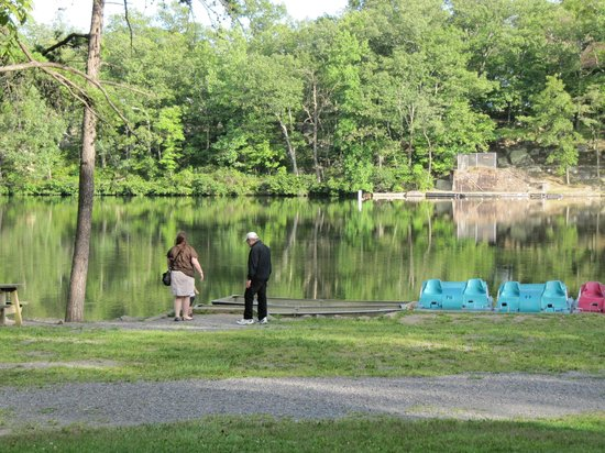 Cacapon State Park: Beach and lake.