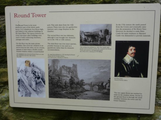 Barnard Castle: One of the information boards around the castle.