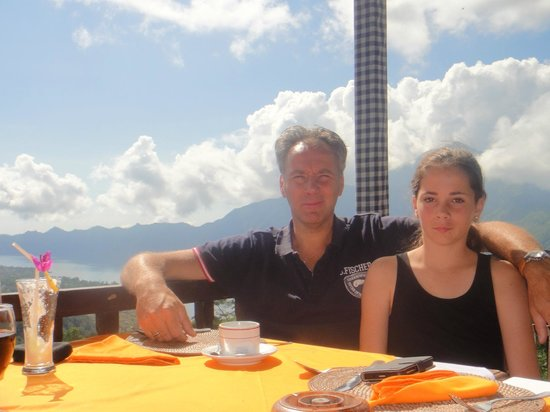 Bali 2000 Cycling - Day Tours: Starting the trip with some drinks at Lake view restaurant in Kintamani