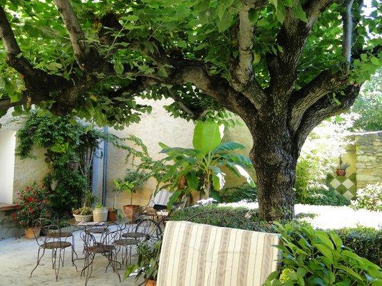 jardin et terrasse vus de la grille d entr 233 e photo de l accroche coeur caderousse tripadvisor