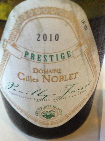 Le Lamartine: Domaine Gilles Noblet Prestige 2010