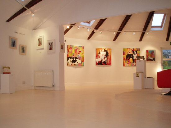 An Clachan art and craft gallery: rear gallery