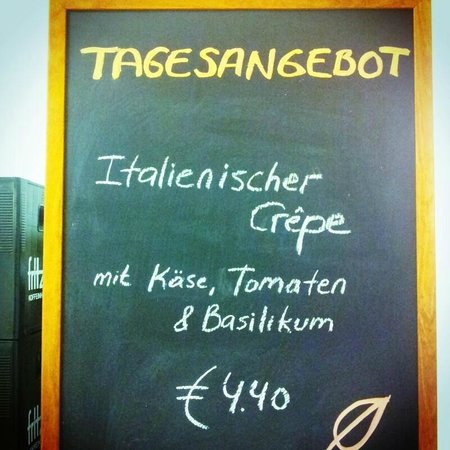 Cafe Sizzle: Our special offers are on the blackboard at the till