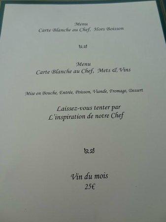 Menu surprise du chef sans prix photo de la table des marechaux hotel napoleon - Table des marechaux fontainebleau ...