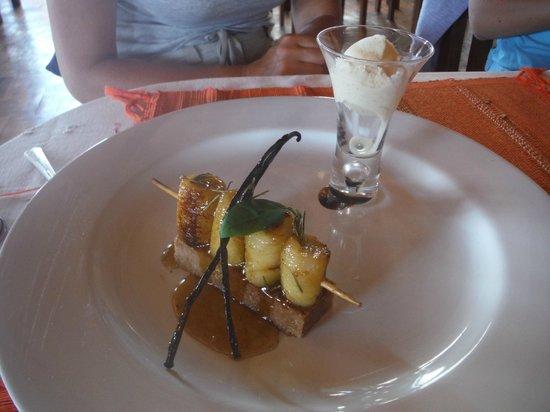 Mad Zebu: Brochettes de banane au miel