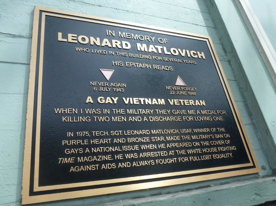 Cruisin' The Castro Walking Tours: Plaque remembering gay US soldier