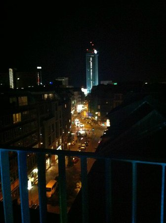 The Weinmeister: roof terrace view, at night