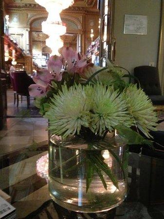 Blikk inn i matsalen på Berns Hotel fra Lobbyen.Bare fantastisk!