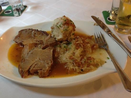 Goldener Hirschen: roast pork