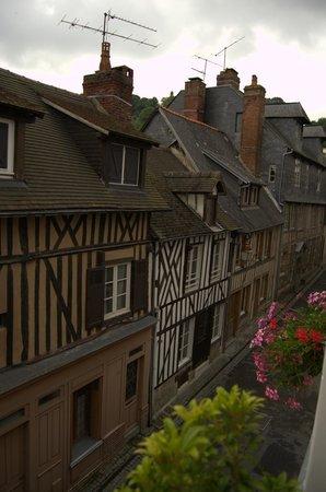 Chambres d'hotes Au Bois Normand: la vista dalla finestra