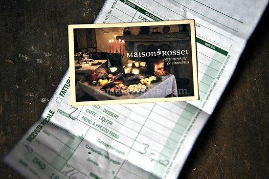 Biglietto da visita conferma prezzo picture of maison for Agriturismo maison rosset